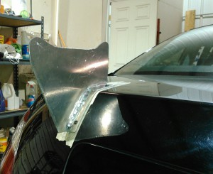 Making sure it fits the decklid
